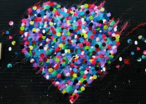 Crushed candy heart