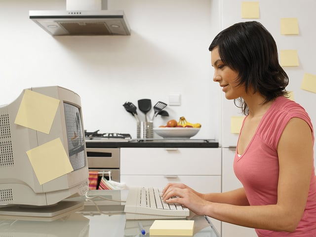 Young woman working on the computer