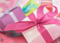 Gifts wrapped in girly colors