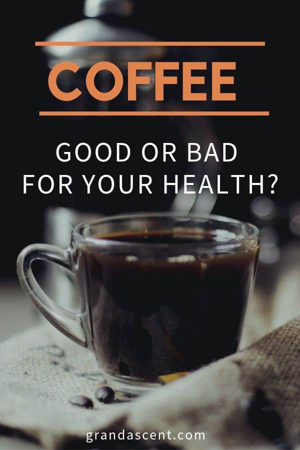 Coffe cup with a thought: is coffee good or bad for your health?