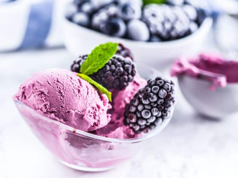 Blackberry frozen yogurt