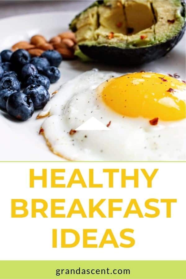 Healthy breakfast ideas: blueberries, avocado and sunny side up egg