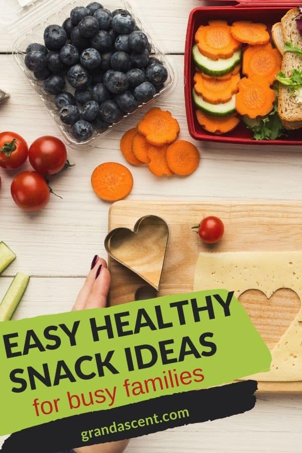 Easy healthy snack ideas for busy families: blueberries, carrots, cherry tomatoes, cucumbers and more
