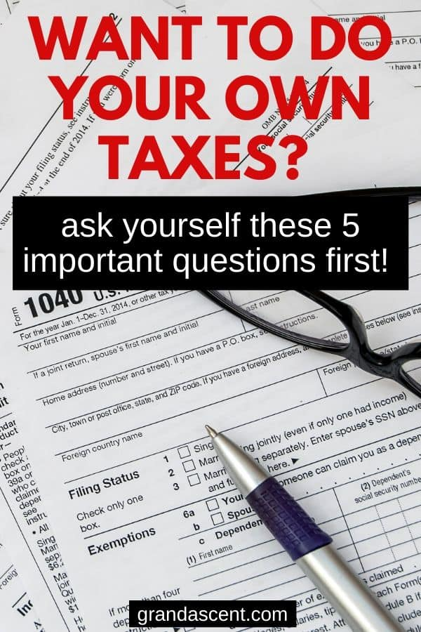 Tax papers to do your own taxes