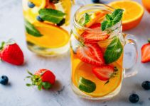 Infused water in glass jars