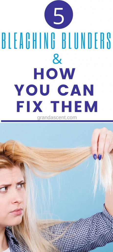 Bleaching blunders and how to fix damaged bleached hair