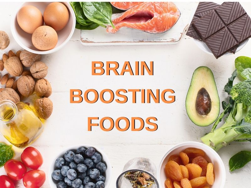 Display of brain boosting foods