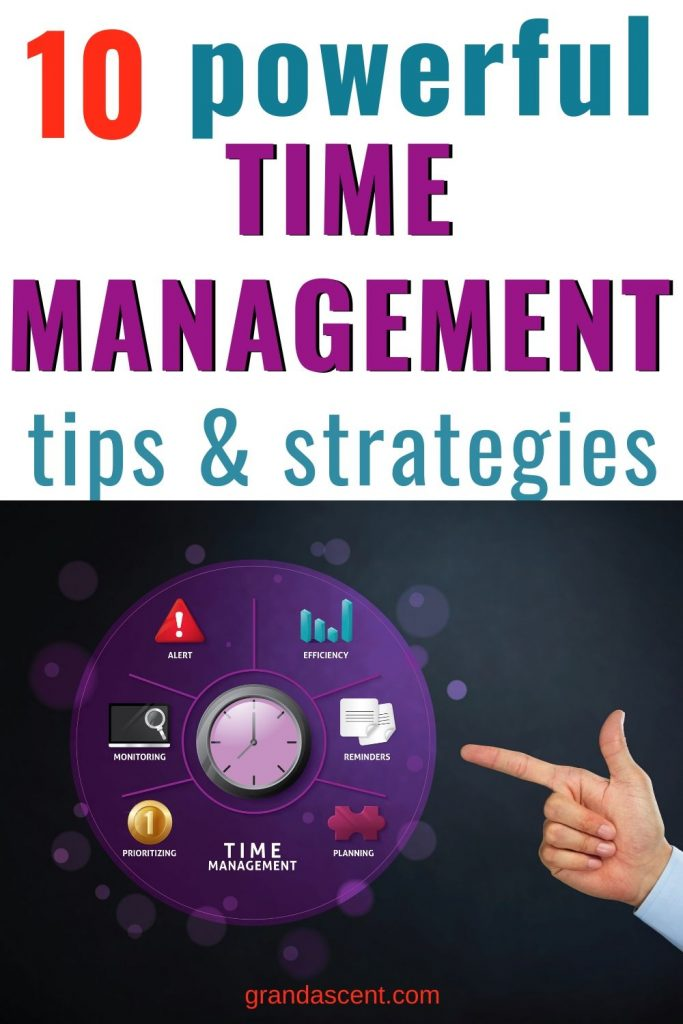 Time management tips and strategies