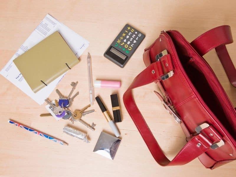 Messy handbag
