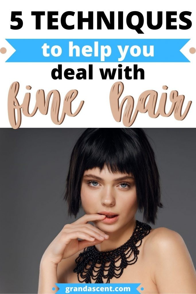 How to deal with fine hair - Pinterest image
