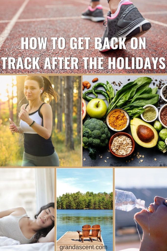 How to get back on track after the holidays - Pinterest image