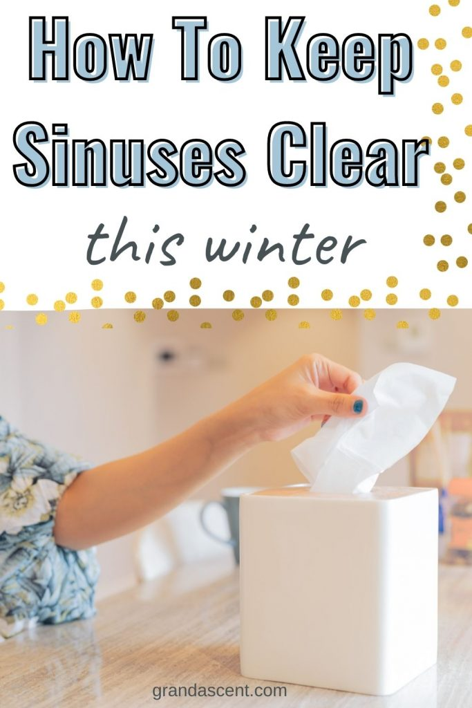 How to keep sinuses clear this winter - Pinterest image
