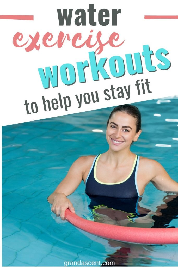 Water exercise workouts to help you stay fit - Pinterest image