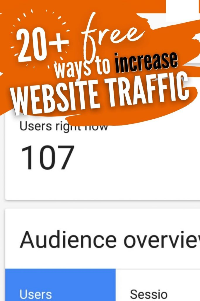 20 ways to increase website traffic today