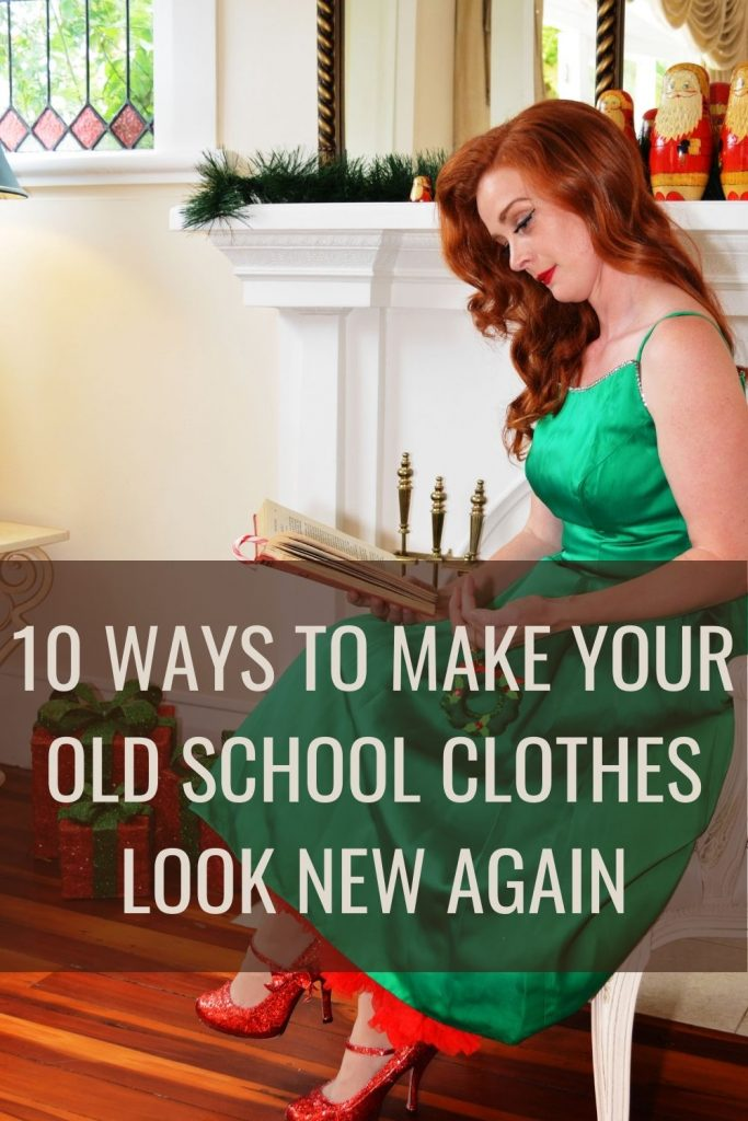 10 ways to make your old school clothes look new again