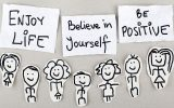 positive words on little notes