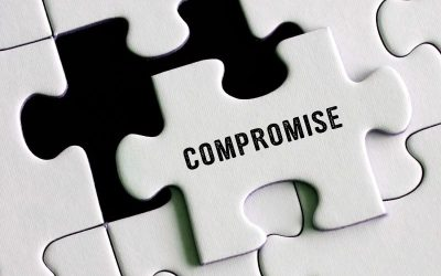 puzzle piece with the word compromise
