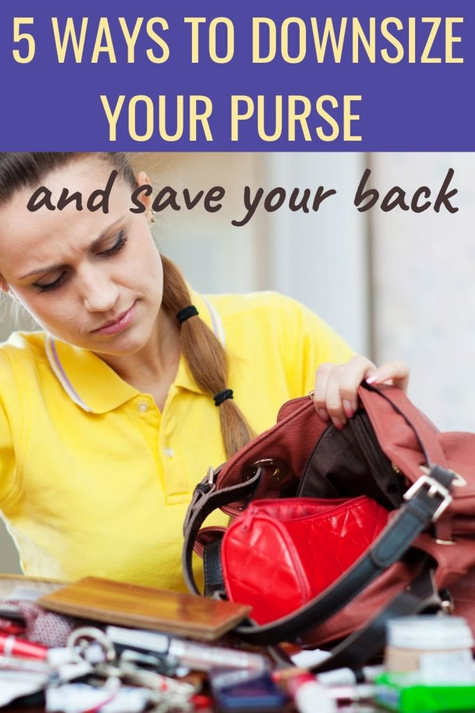 5 ways to downsize your purse