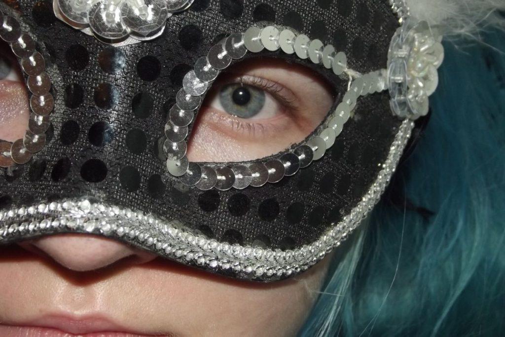 black fancy eye cover