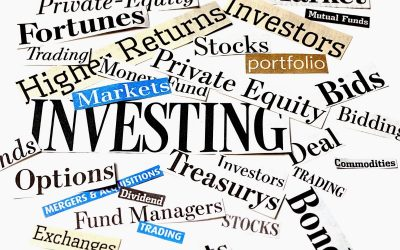 word cloud about investing